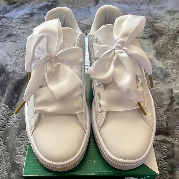 Puma Basket Heart Patent Sneakers